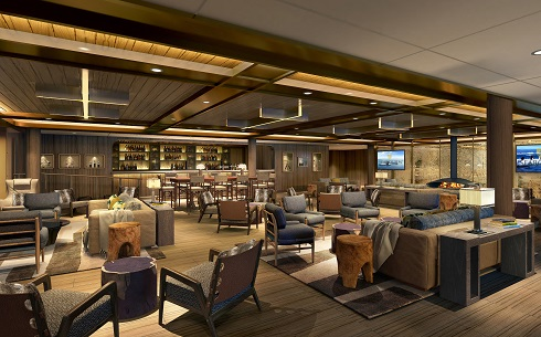 Seabourn expedition ships - Expedition Lounge rendering