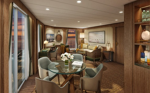 Seabourn expedition ships - Signature Suite (Living Room)