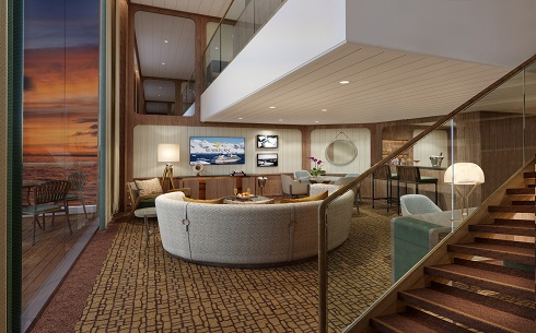 Seabourn expedition ships - Wintergarden Suite (Living Room)