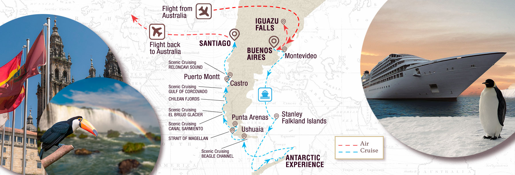 Rhythms of South America & Antarctica Map